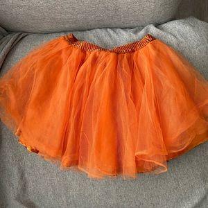 4t orange tutu EUC